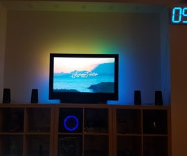 Old TV Ambient LED Light With Kodi