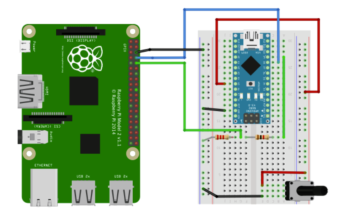 Picture of Connecting the RPi and the Arduino Using Serial Communication