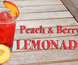 Peach and Berry Lemonade