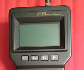 Field strength meter amplified antenna