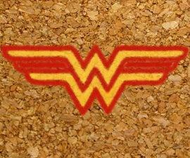Wonder Woman Cork Coasters