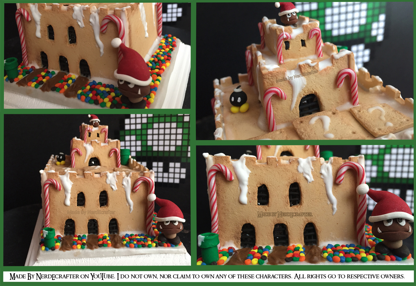 Picture of Geeky Mario Gingerbread Castle