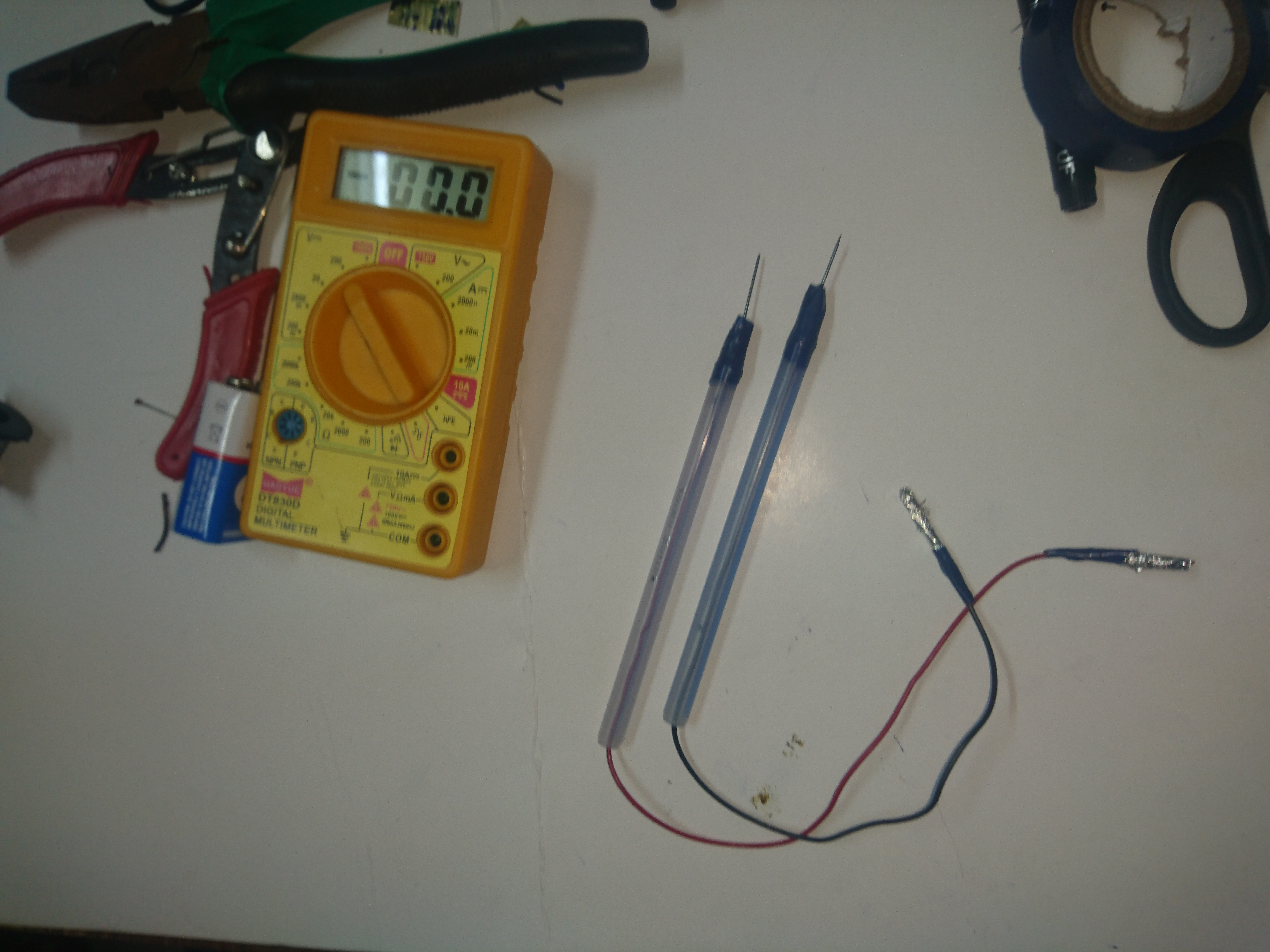 Picture of Scratch Made Multi Meter Test Leads Are Ready for Use: