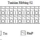 Ribbing 02 Pattern for Tunisian Crochet