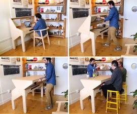 Transforming Bar Desk