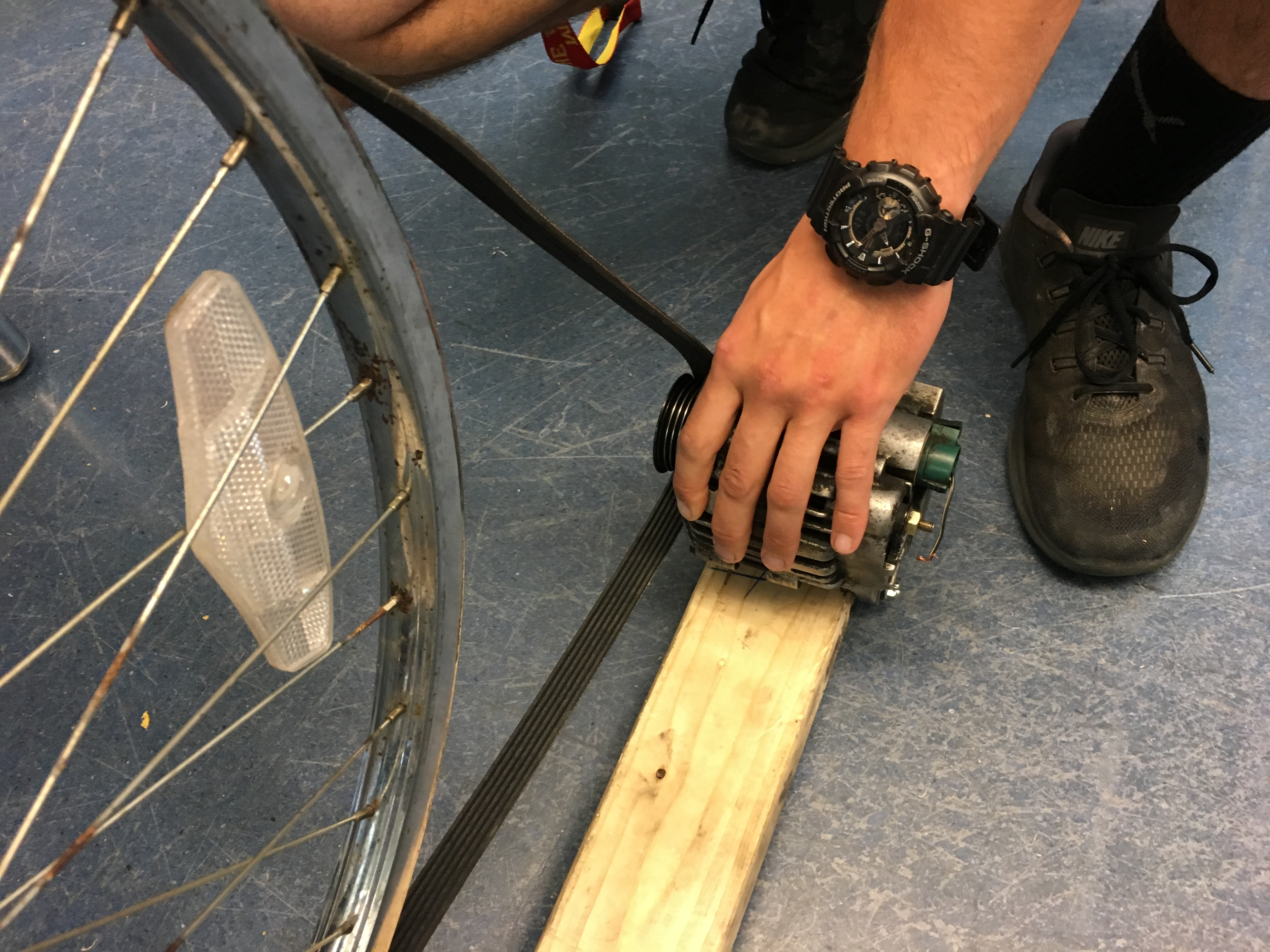 Picture of Attach the Car Alternator to a Piece of 2x4 Wood