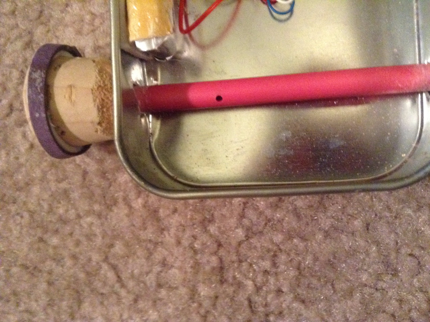 Picture of Drill the Holes in the Altoids Tin