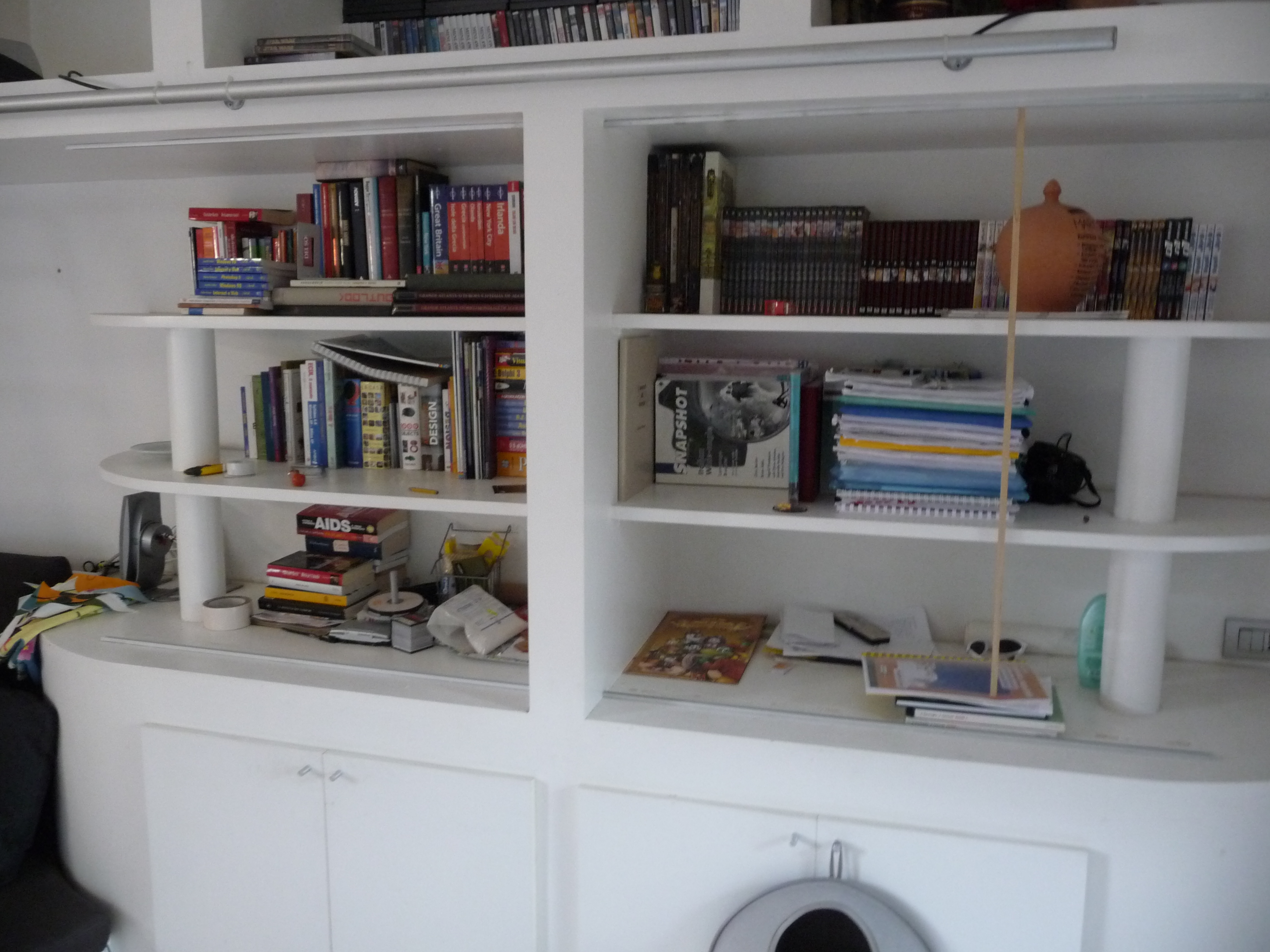 Picture of Hide Your Messy Bookshelf With Ikea Panels