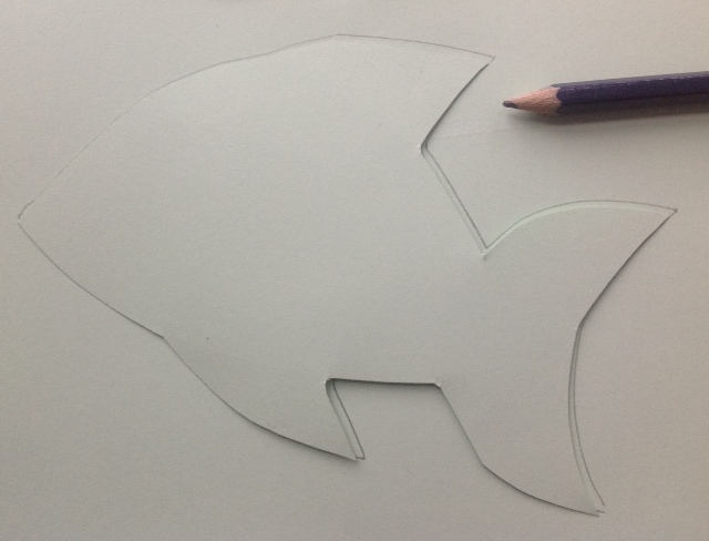 Picture of Reverse Applique Spangly Fish Picture.