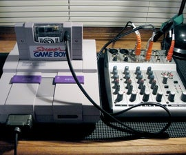 SNES Super Gameboy Line Out Audio Mod