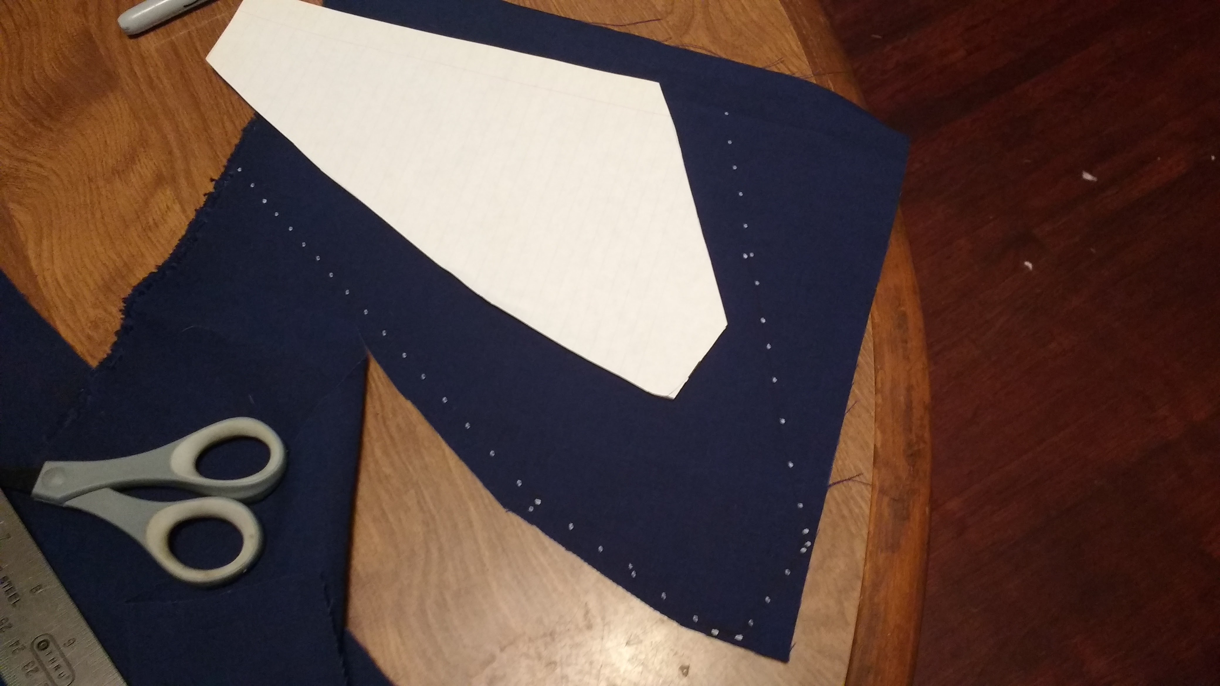 Picture of Stencil, Cut, and Hem the Upper Left and Upper Right Panels