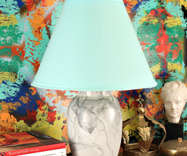 Marbled Thrift Store Lamp