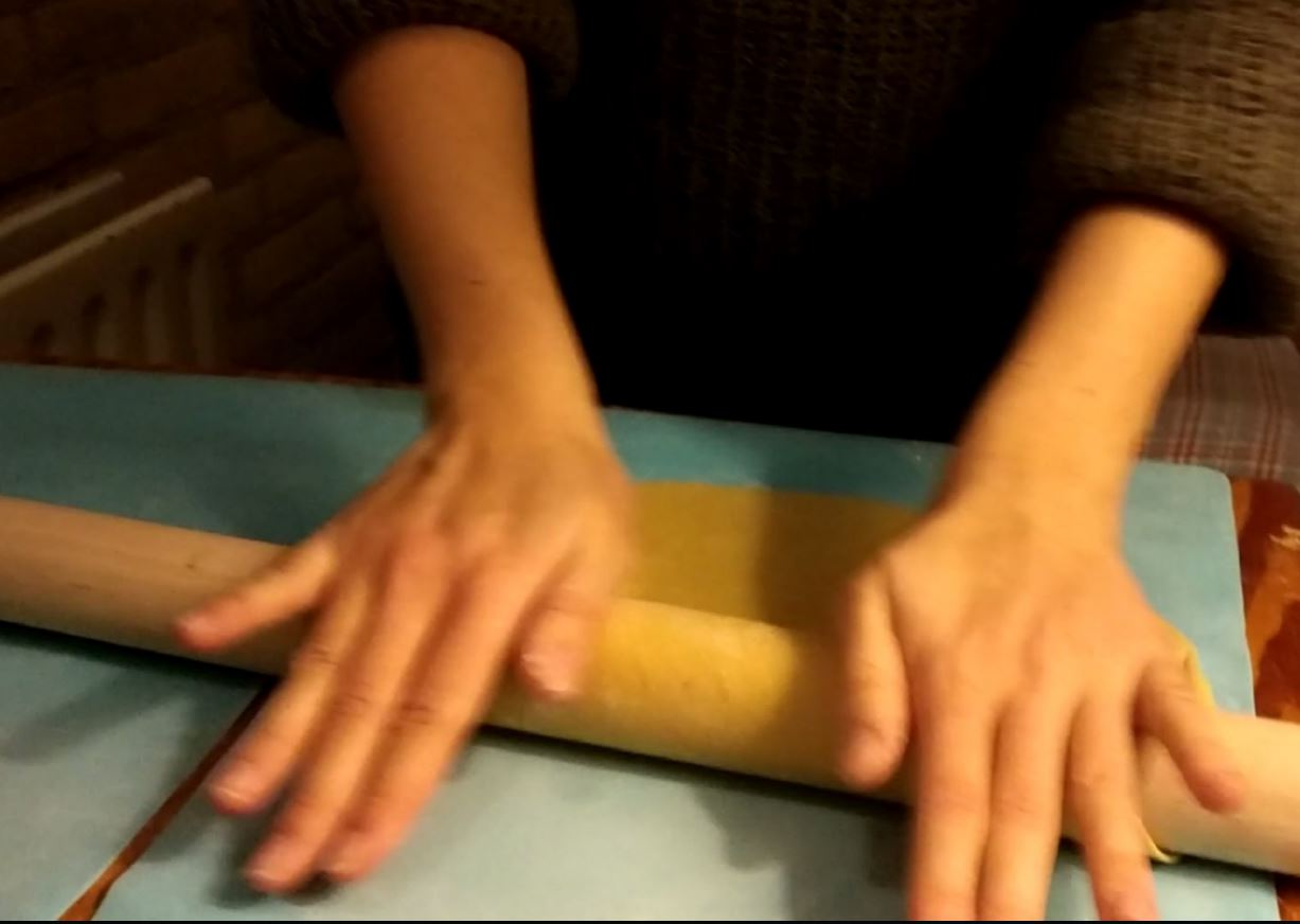 Picture of Stretching Along the Rolling Pin