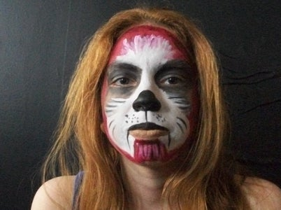 Brown Dog Face Paint