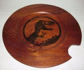 Jurassic World timber platter