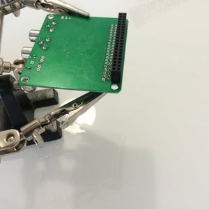Solder the Two Pins Onto the Sound Card