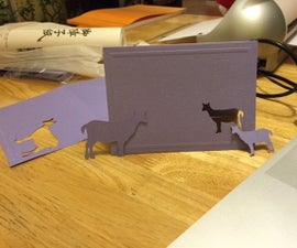 Cute goat greeting cards with Silhouette cutter