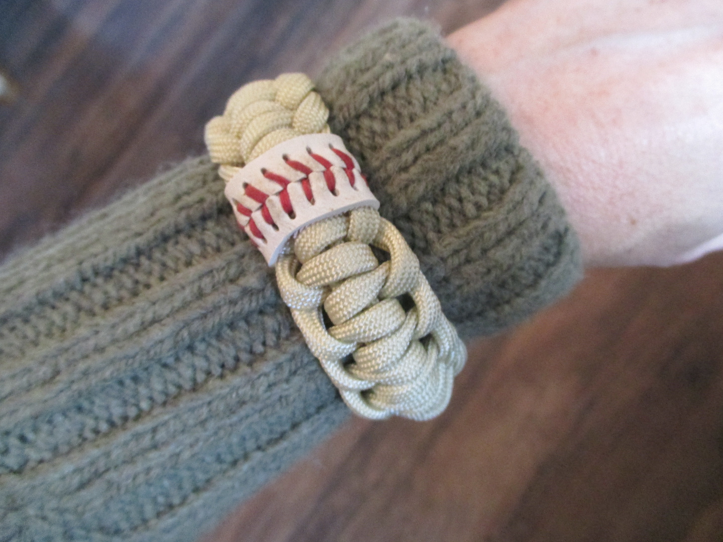 Picture of Baseball-accented Paracord Bracelet