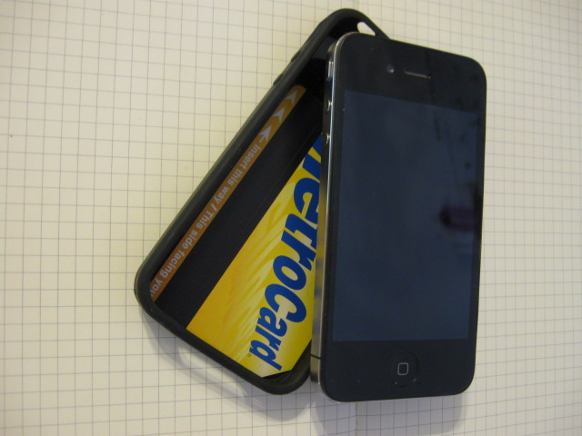 Picture of Iphone Subway Card Holder With Mute Button Wedge