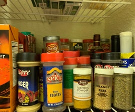 Magnetic Door Spice Rack