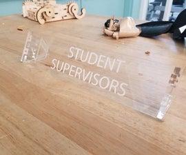 Laser Cut Desk Nameplate