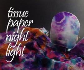 Tissue Paper Night Light