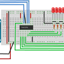 How To Make a 74HC595 Shift Resistor Circuit