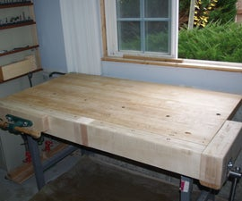 Add Front and Tail Vises to a Maple Work Table