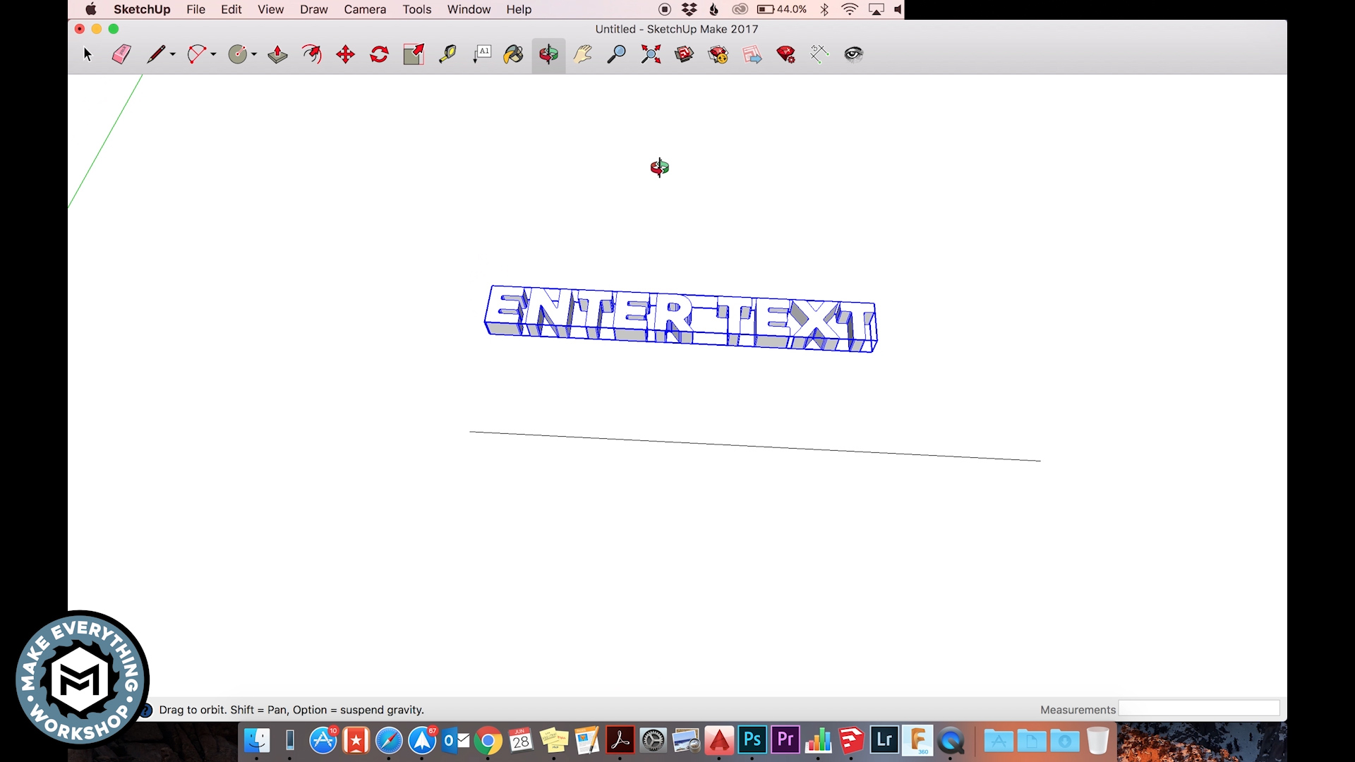 Picture of 3D Design in Google Sketchup (Free Version)