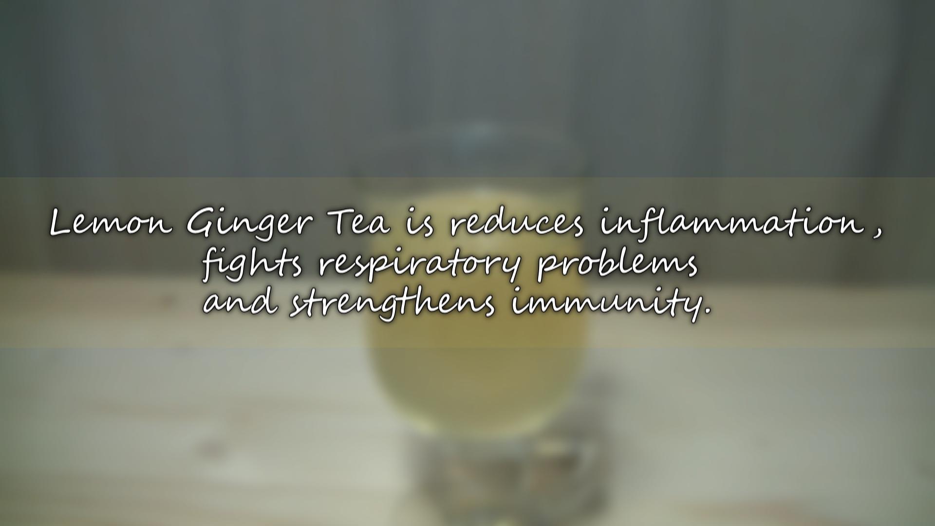 Picture of Anti-inflammatory Lemon Ginger Tea