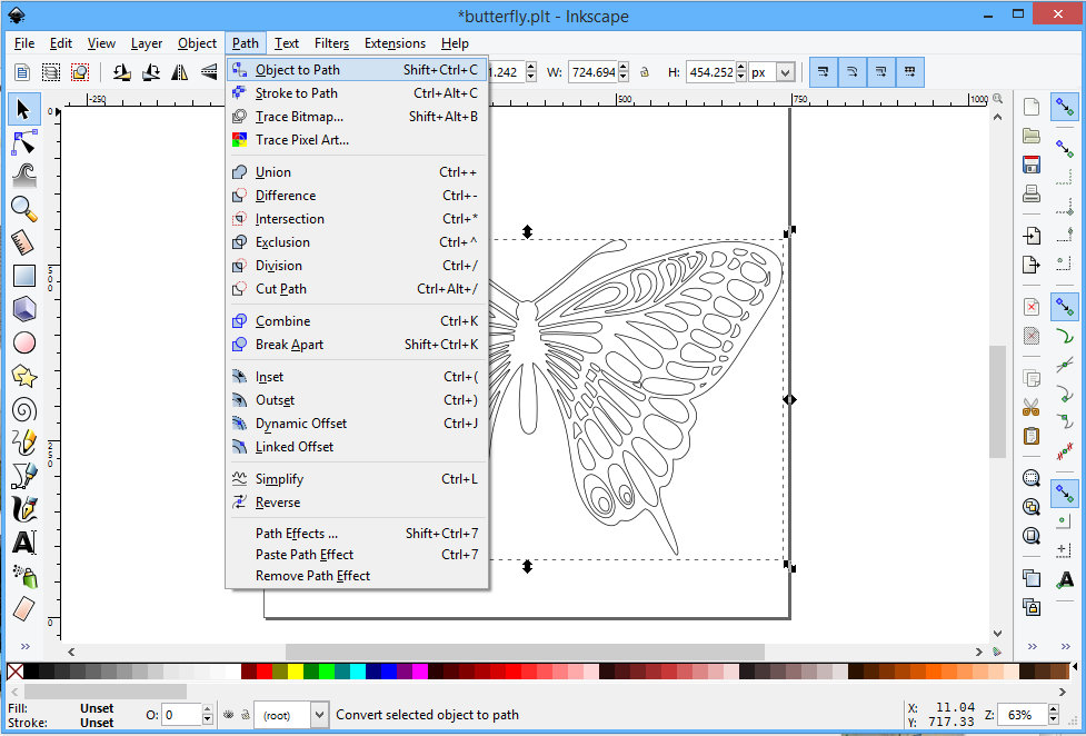 Picture of Preparing Gcode With Inkscape