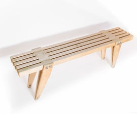 Mid Century Outdoor Furniture: Table and Bench With Tapered Legs