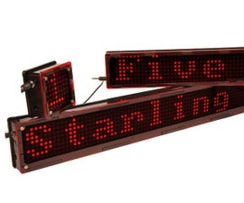 Build Starling, a modular WiFi enabled LED display board.