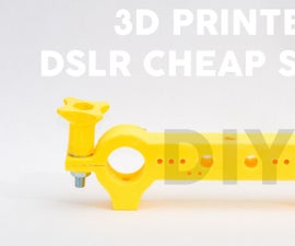 3D Printed DSLR Slider! Cheaper than 20$
