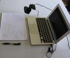 Webcam Stand for Tutoring From a Wire Coat Hanger