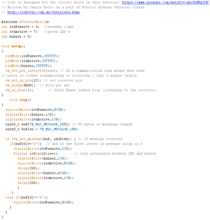 Picture of Upload Receiver Code