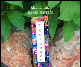 Alcohol Ink Garden Markers