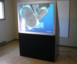 Back projection 56 inch multitouch television.
