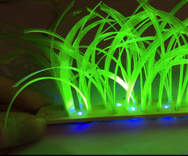 Glowy Grass From Recycled Bottle
