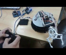 6 Dof Robotic Arm Controlled By 1Sheeled