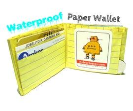 Waterproof Paper Wallet