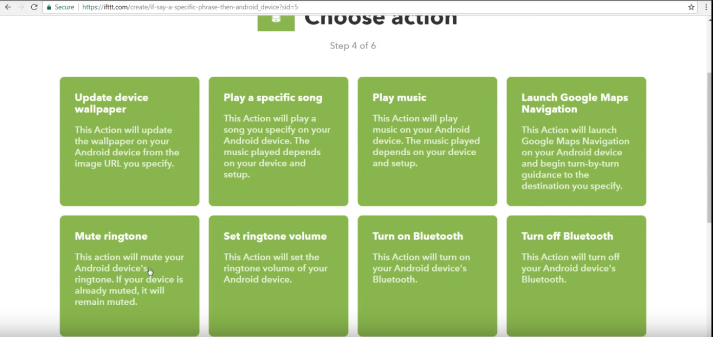 Picture of Select Action Service