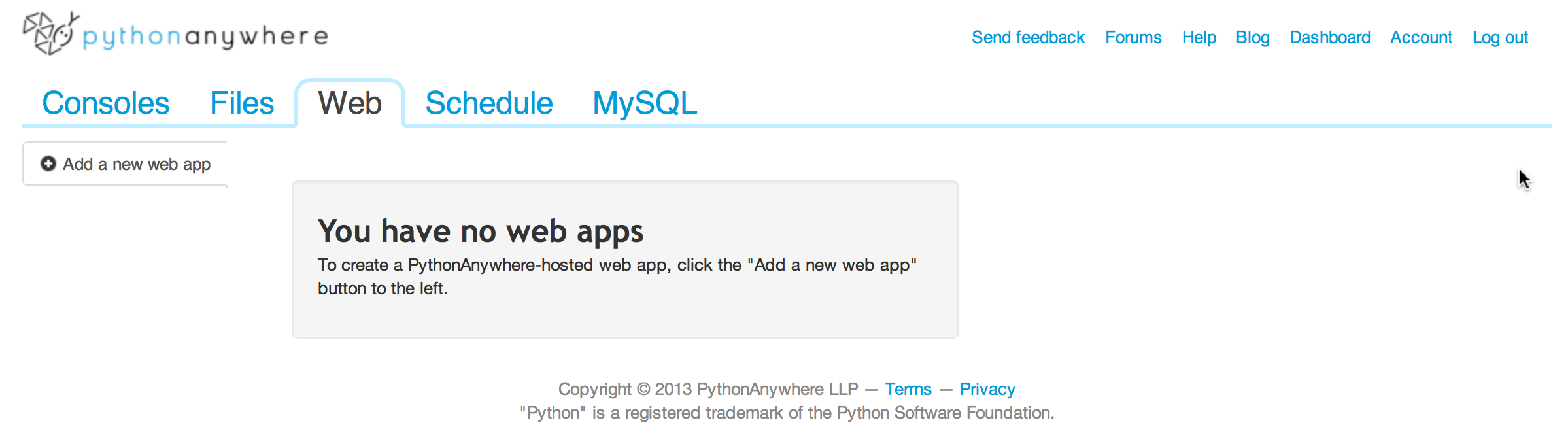 Picture of Set Up a Web Application Server on PythonAnywhere