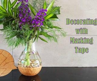 Decorating With Masking Tape