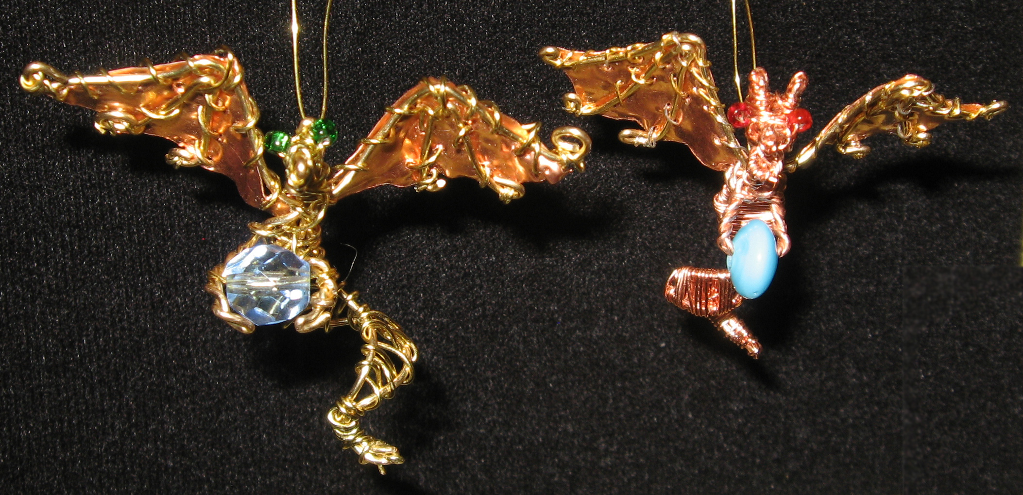Picture of Wire-wrap Dragon Pendant With Foil Wings