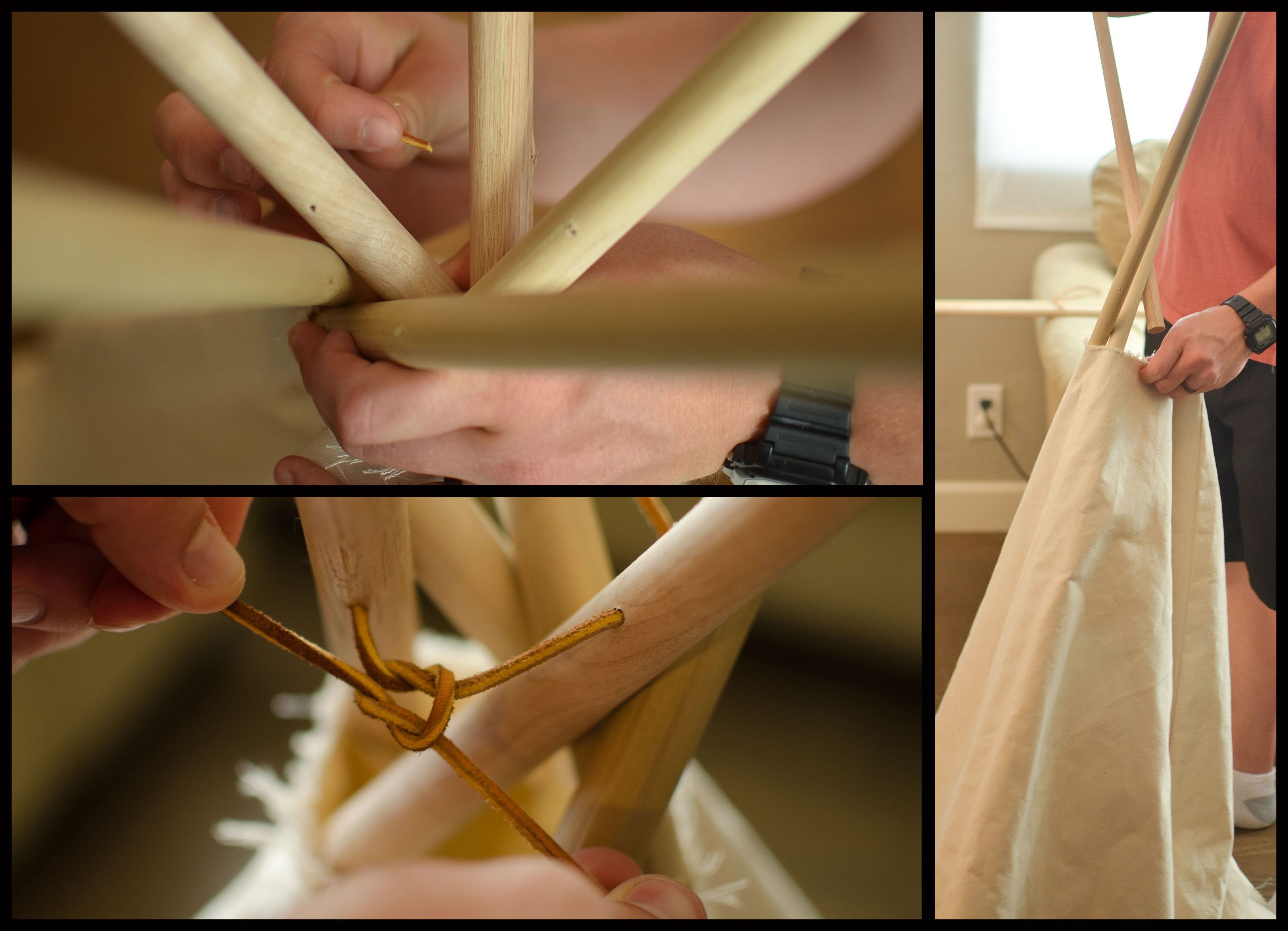 Picture of Insert the Dowels and Lace the Top