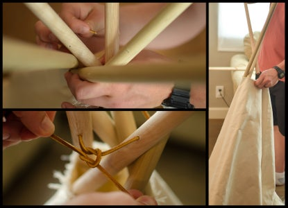 Insert the Dowels and Lace the Top