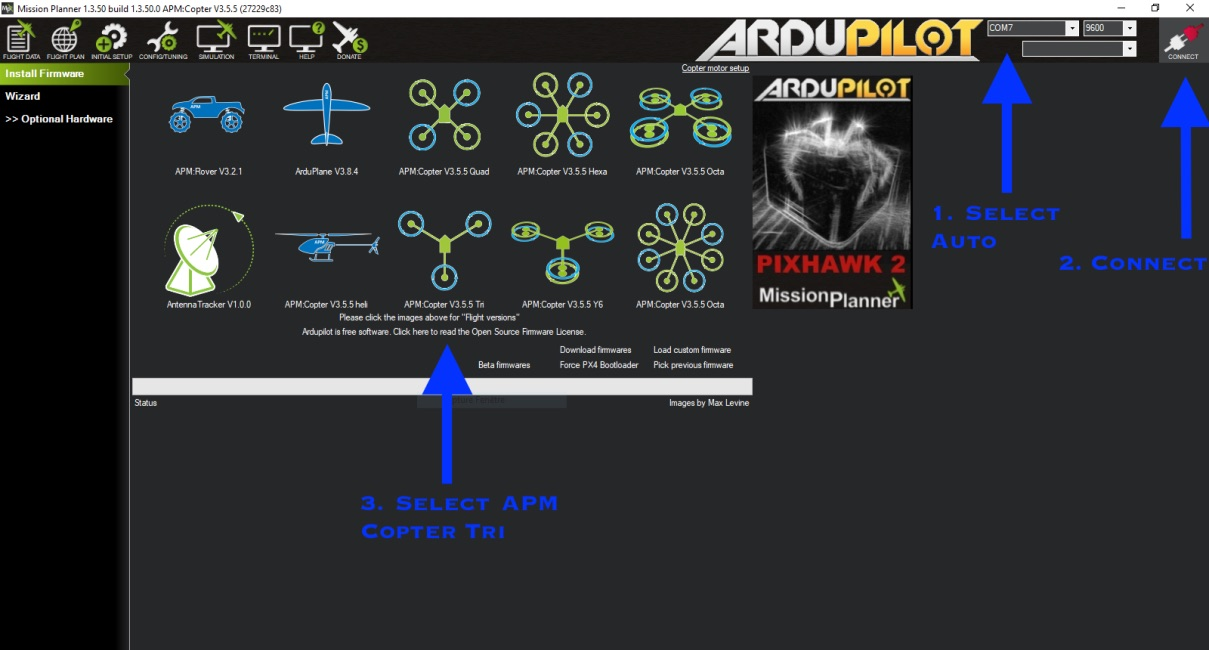 Picture of Setting Up Autopilot Firmware