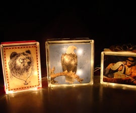 How to Make a Lighted Glass Block