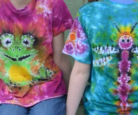 Double Sided Tie Dye:  Frog & Dragonfly